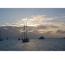 Boats on Anchor Photographic Print