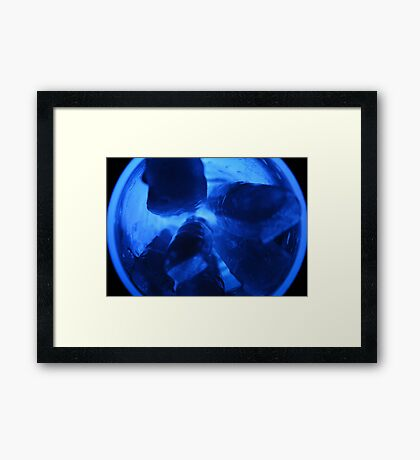 Blue Ice, Baby's Got Blue Ice Framed Print