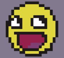 Awesome MEME face  - 8 bit Kids Clothes