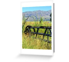 Wire and Fence Greeting Card