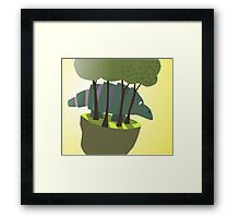 wild beast stuck on floating world  Framed Print