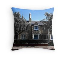 Railway workers houses Throw Pillow