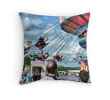 Fun at Hawkesbury Upton Fair.  Throw Pillow