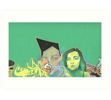green sketch 3 Art Print