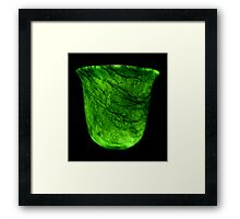 Dark & Alone - What Is It? - Jade Drinking Tumbler Framed Print