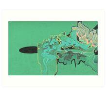 green sketch 4 Art Print