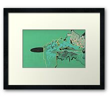 green sketch 4 Framed Print