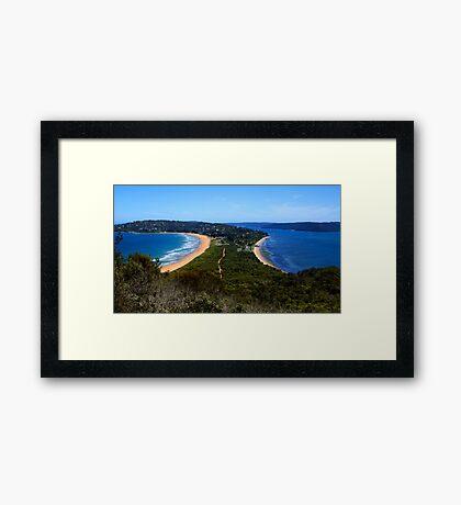 Tombolo - Palm Beach - Sydney - Australia Framed Print