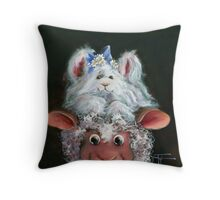 Hat Hare Throw Pillow