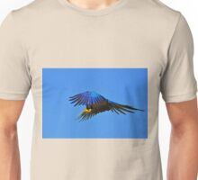~Blue Macaw: On the Wing~ Unisex T-Shirt
