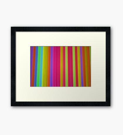 What Is It? - Glow Sticks Framed Print