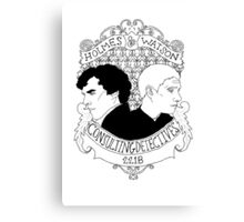 Consulting Detectives Canvas Print