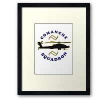Comanche tee-shirt and stickers Framed Print