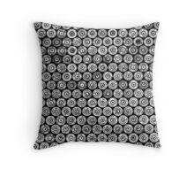 45 Brass #2 (Black & White) Throw Pillow