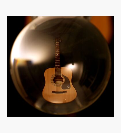 Bubble Guitar Photographic Print