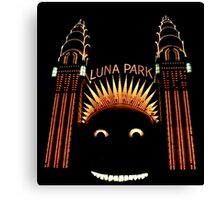 Looney Park - Luna Park at Night - Sydney - Australia Canvas Print
