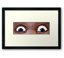 Ol' Blue Eyes Is Back! Luna Park - Sydney Framed Print