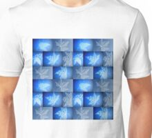 Blue Leaf Drawing Unisex T-Shirt