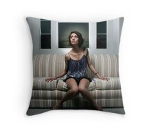 When the lights go off Throw Pillow