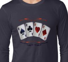 Aces with design Long Sleeve T-Shirt