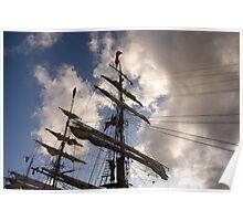 The tall ship Europa Poster