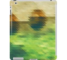 Emerald green and brown triangle pattern iPad Case/Skin