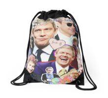 martin freeman collage Drawstring Bag