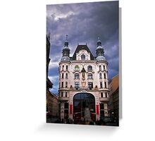Vienna in a rainy day Greeting Card