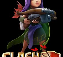 Archer Queen Clash of Clans by renegade1984