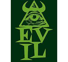 Anti Illuminati - EVIL Photographic Print