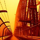 The Red Walk - SYDNEY DUST STORM by Bryan Freeman