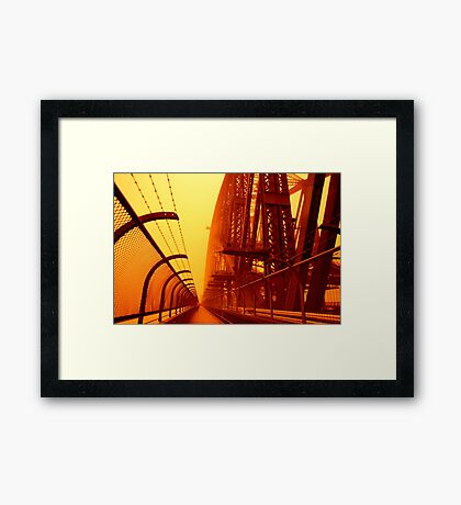 The Red Walk - SYDNEY DUST STORM Framed Print