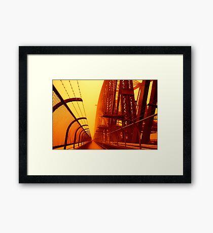 The Red Walk - SYDNEY DUST STORM Framed Print