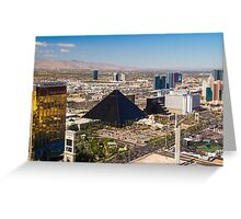 The Strip From Above Greeting Card