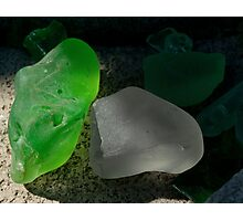 green and grey glass Photographic Print