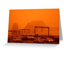The Red Centre Comes To The Sydney Harbour Bridge Greeting Card