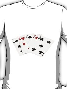 Poker Hands - Full House - Seven and Five T-Shirt
