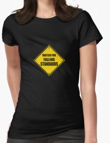 Falling Standards Womens Fitted T-Shirt