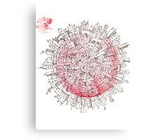 Planet City Tee Canvas Print