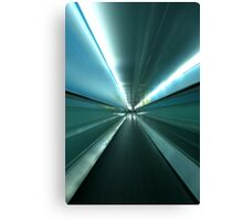 By The Light of The Tunnel Canvas Print