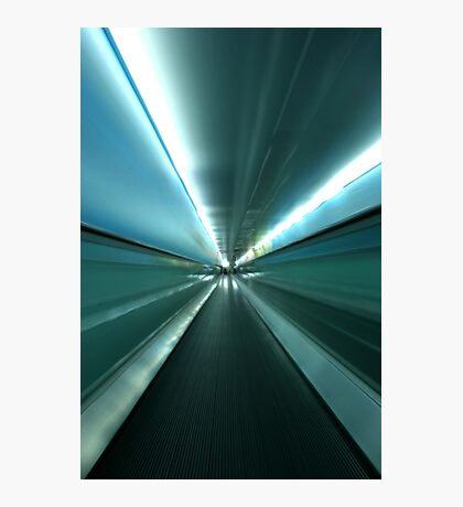 By The Light of The Tunnel Photographic Print