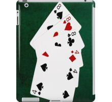 Poker Hands - Full House - Eight and Four iPad Case/Skin