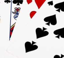 Poker Hands - Full House - Queen and Nine Sticker