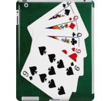 Poker Hands - Full House - Queen and Nine iPad Case/Skin