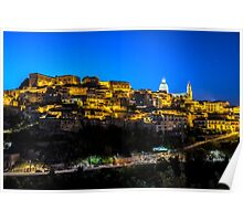 Ragusa Ibla in the Evening Poster