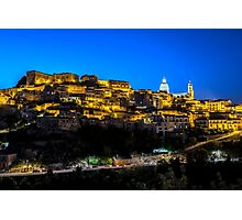 Ragusa Ibla in the Evening Photographic Print