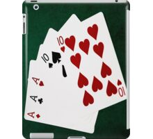Poker Hands - Full House - Ace and Ten iPad Case/Skin