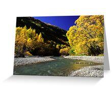 Autumn colours, Arrowtown Greeting Card