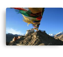 Prayers on top of the World Canvas Print