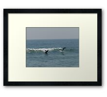 Playful Waves Framed Print